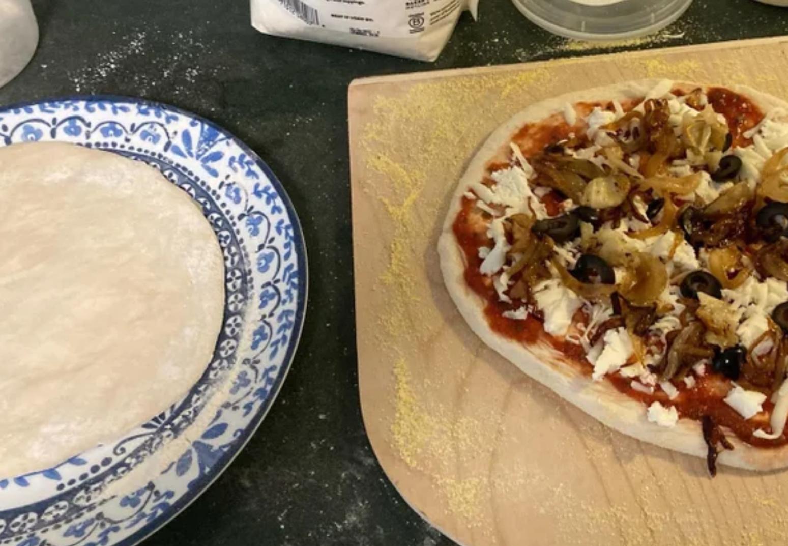 ooni pizza oven pizza prep